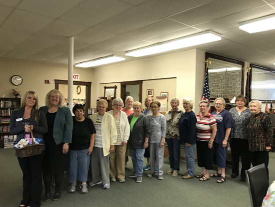 UniBank employees with Douglas Senior Center patrons