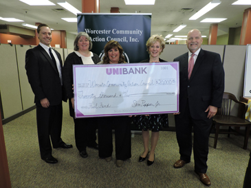 UniBank Donates $20,000 to Worcester Community Action Council