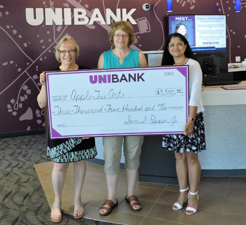 UniBank Donation of $3,500 to Apple Tree Arts Supports Year-Round Programming