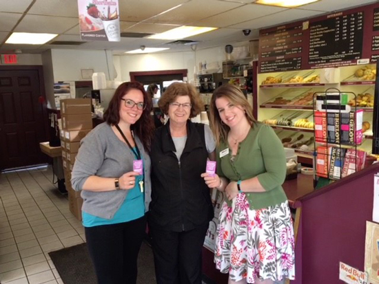 UniBank employees buying breakfast for patrons at local coffee shop in Uxbridge